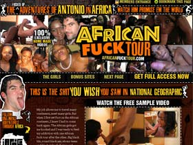 Welcome to African Fuck Tour! Amateur Homemade Fuck Videos of One White Man's African Adventures