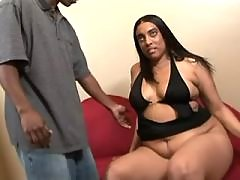 Chubby black beauty fucks non stop