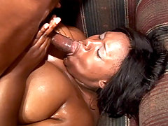 Huge black babe Tina Taboo gags on a plump cock and receives and hard pounding in her wet pussy black chubby porn