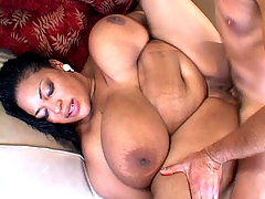 Black BBW hottie enjoying a white dick in her cunt black chubby porn