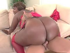 Fat ebony fucked by guy