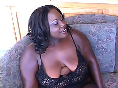 Horny ebony BBW gets her plump booty cock stuffed black chubby porn