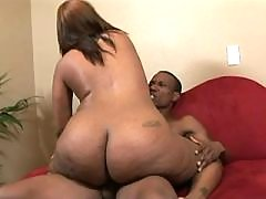 Black fatty takes up huge hummer black chubby porn