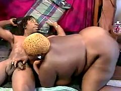 Black BBW moans while fucked deep black chubby porn