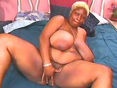 Ebony BBW knows how to handle cock black chubby porn