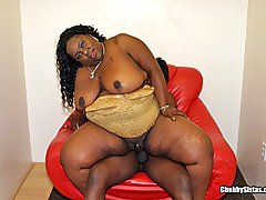 Thick Char-Lee Red Swallows a Big Load