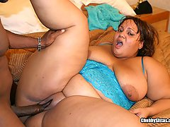 Big Bouncy Lady Gets Big Cock In Her black chubby porn