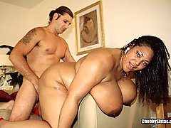 Thick Ebony Chick Tit Fucks White Dick black chubby porn