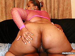 Chubby Black Amateur Bouncing on Dick black chubby porn